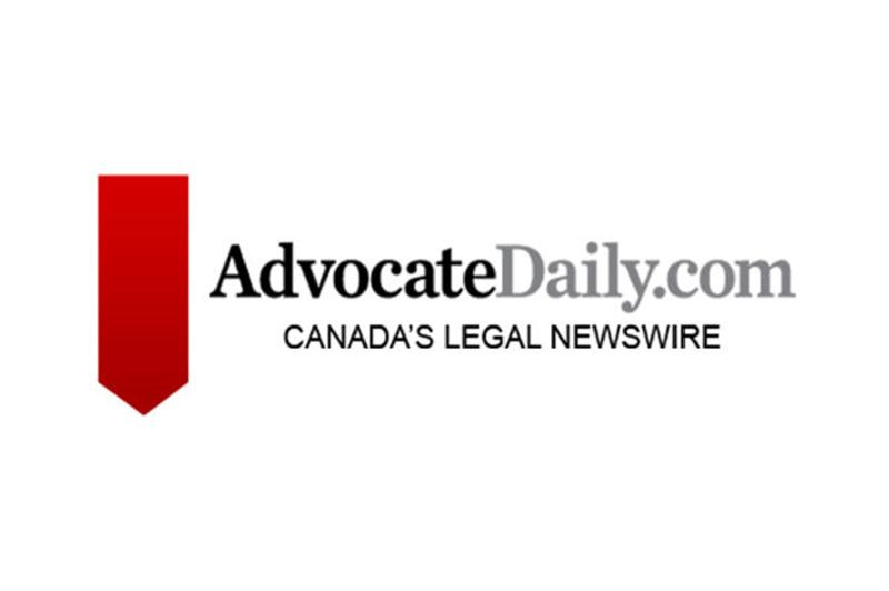 Advocate Daily Canada's Legal Newswire Logo